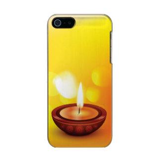Beautiful diwali diya illustration metallic phone case for iPhone SE/5/5s