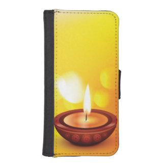 Beautiful diwali diya illustration wallet phone case for iPhone SE/5/5s