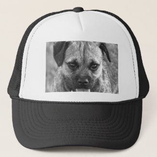 Beautiful Dog Face Black and White Trucker Hat