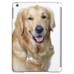 Case Savvy Glossy Finish iPad Air Case with Golden Retriever Phone Cases design