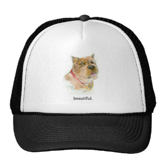 """Beautiful""""  Dog Thoughts T shirt by Diane Heller Mesh Hats"""