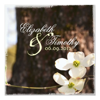Beautiful Dogwood Wedding Invitation v3