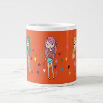 Beautiful Dolls Large Coffee Mug