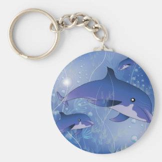 Beautiful dolphin key chain