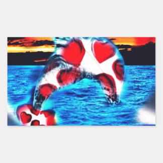 Beautiful Dolphin Rectangular Sticker