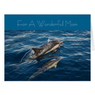 Beautiful Dolphin's Mothers' Day Greeting Card