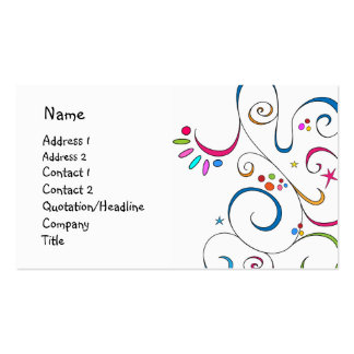 Beautiful doodle design business cards