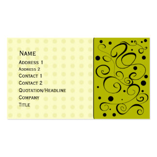 Beautiful doodle design with dots Double-Sided standard business cards (Pack of 100)