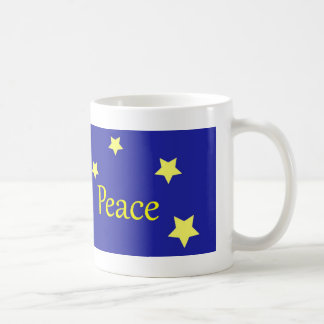 Beautiful Dove and Stars Peace Mug