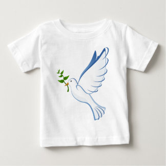 Beautiful Dove Carrying Plant Baby T-Shirt