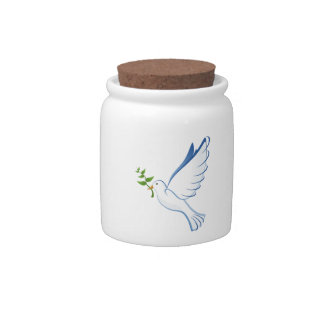 Beautiful Dove Carrying Plant Candy Jars