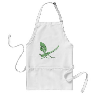 Beautiful Dragonfly with Jade-like Texture Adult Apron