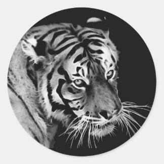 Beautiful dramatic Tiger Classic Round Sticker