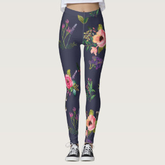 Beautiful Drawing  Flower Legging
