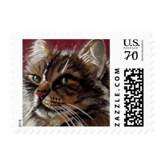 Beautiful Dreamer - Maine Coon Cat Stamp