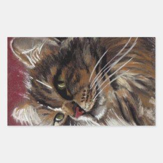 Beautiful Dreamer - Maine Coon Cat Sticker