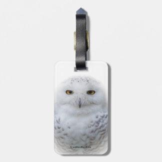 Beautiful, Dreamy and Serene Snowy Owl Bag Tag