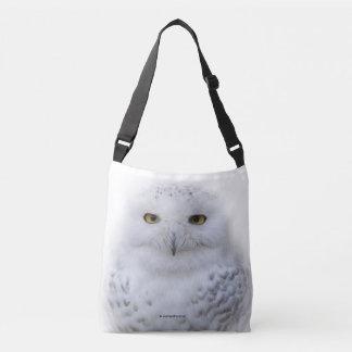 Beautiful, Dreamy and Serene Snowy Owl Crossbody Bag