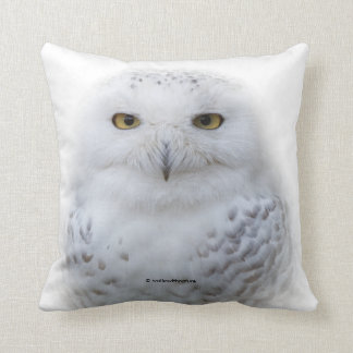 Beautiful, Dreamy and Serene Snowy Owl Throw Pillow