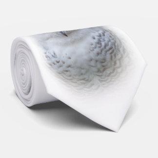 Beautiful, Dreamy and Serene Snowy Owl Tie