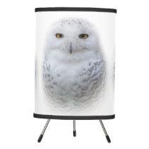Beautiful, Dreamy and Serene Snowy Owl Tripod Lamp