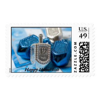 Beautiful Dreidel Design Postage Stamps