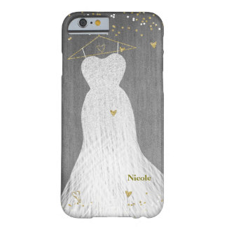 Beautiful Dress on Gold Hanger Glam Fashion Barely There iPhone 6 Case