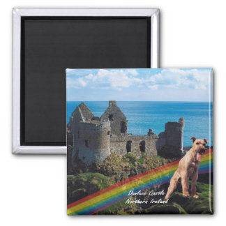 Beautiful Dunluce Castle, Northern Ireland 2 Inch Square Magnet