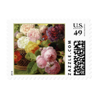 Beautiful Dutch Mixed Flowers Still Life Postage