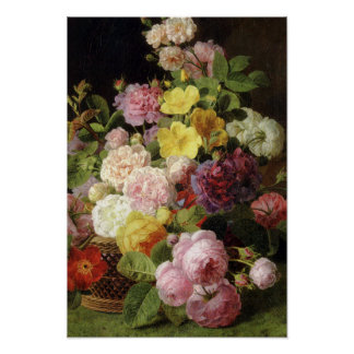 Beautiful Dutch Mixed Flowers Still Life Poster