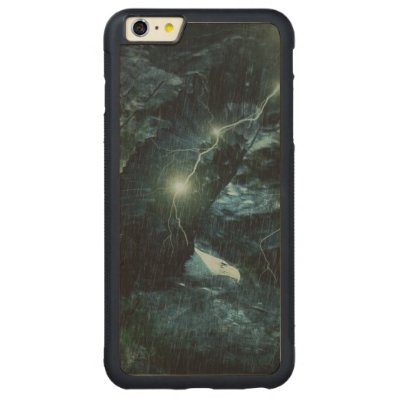 beautiful eagle in storm carved® maple iPhone 6 plus bumper case