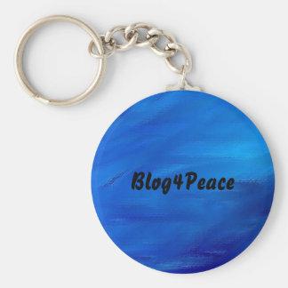 Beautiful Earth Blue Blog4Peace Keychain