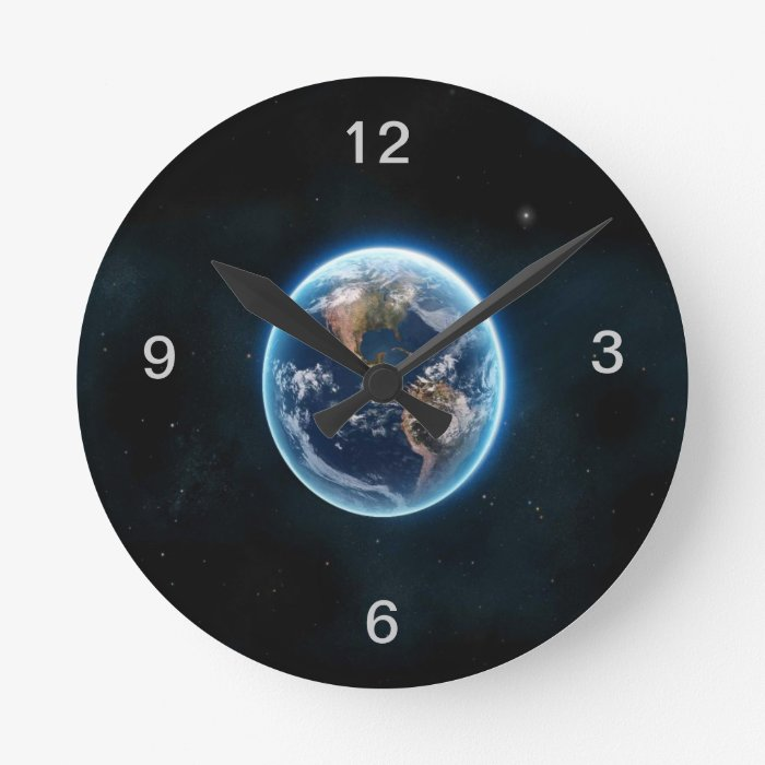 Beautiful Earth Round Clock