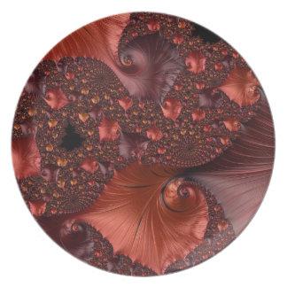 Beautiful Earth Tone Fractal Art Plate