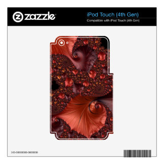 Beautiful Earth Tone Fractal Art Skins For iPod Touch 4G