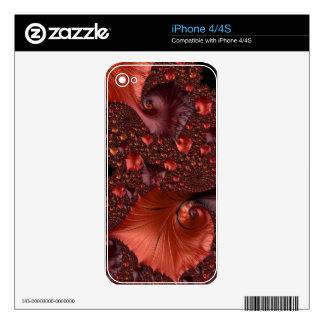 Beautiful Earth Tone Fractal Art Skin For The iPhone 4S