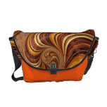 Beautiful Earth Tone Fractal Rickshaw Bag Courier Bags