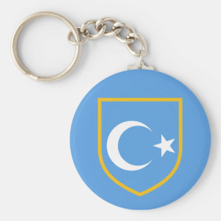 Beautiful East Turkestan Xinjiang Flag Basic Round Button Keychain