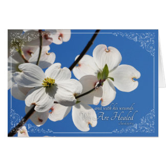 Beautiful Easter Card with Dogwoods