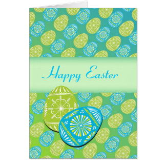 Beautiful Easter Egg Greeting Card-Customizable Card
