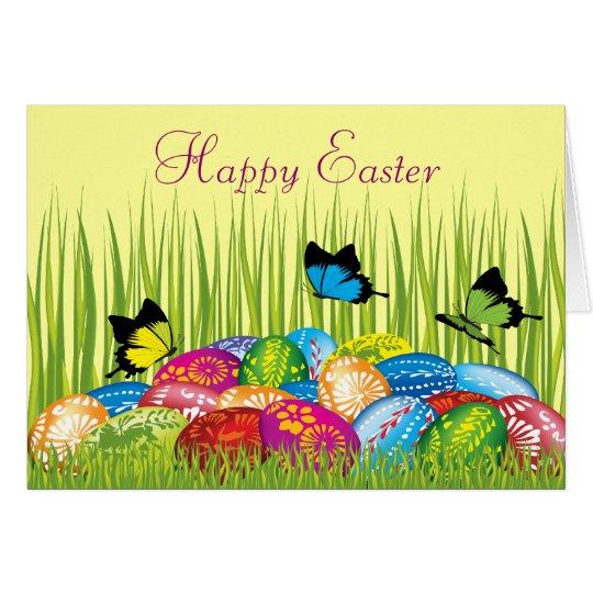 Beautiful Easter Eggs & Butterflies Card