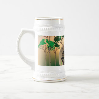 Beautiful easter eggs with dragons and damask 18 oz beer stein