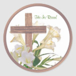 Beautiful! Easter Lilies & Wooden Cross Stickers