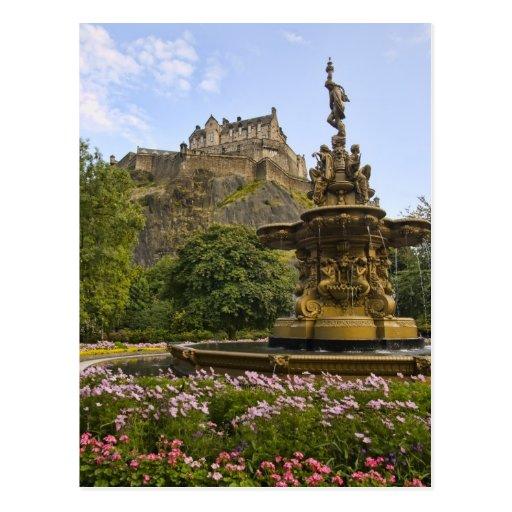 Beautiful Edinburgh Castle Postcard