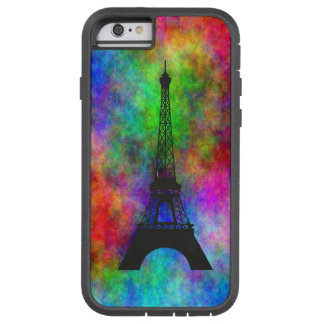 Beautiful Eiffel tower colorful cloth back effects iPhone 6 Case