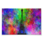 Beautiful Eiffel tower colorful cloth back effects Photo Print