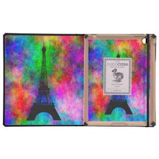 Beautiful Eiffel tower Paris colorful cloth effect iPad Covers