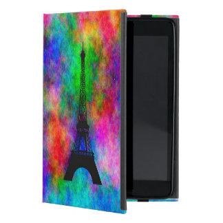 Beautiful Eiffel tower Paris colorful cloth effect Cover For iPad Mini