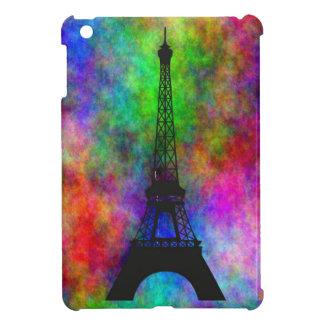 Beautiful Eiffel tower Paris colorful cloth effect Cover For The iPad Mini