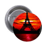 BEAUTIFUL EIFFEL TOWER PARIS FRANCE AT SUNSET PINBACK BUTTONS
